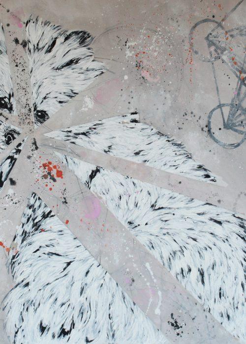 GREED Acrylic on board 70 x 100 cm 2017