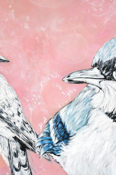 MAAPALLOON LANGENNUT IKÄVÄ Acrylic on board 140 x 100 cm 2016 SOLD