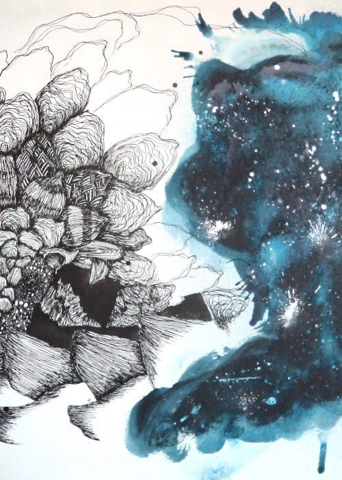 MUURAHAISKUU Acrylic & ink on board 70 x 100 cm 2013 SOLD
