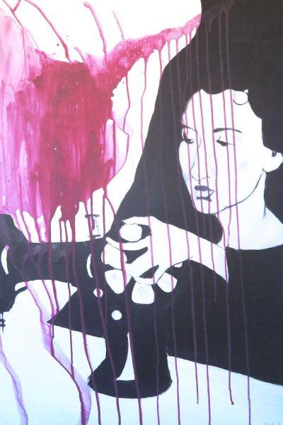 PUNAJUURI Acrylic on board 70 x 100 cm 2011