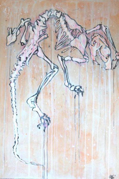 MITÄ TÄMÄ RAATO MINUN SIELUSTANI KERTOO? Acrylic on board 70 x 100 cm 2016